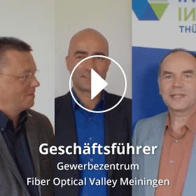 Portrait der Geschäftsführer des Gewerbezentrums Fiber Optical Valley Meiningen
