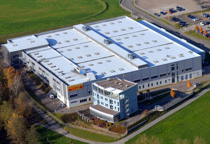 Firmengelände mit Produktionshallen der Sandvik Tooling Supply Schmalkalden