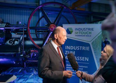 Interview mit einem Geschäftsführer eines Industriebetriebs bei der Industrie inTouch Thüringer Wald 2018