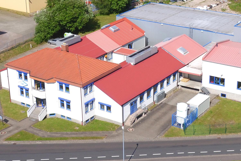 Außenansicht Firmengebäude Pfaudler Normag Systems GmbH