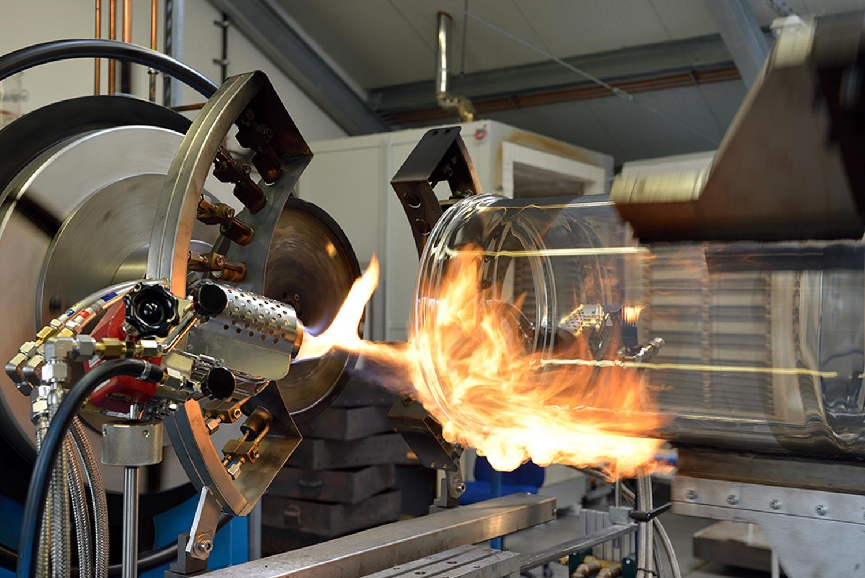 Flamme zur Glasherstellung bei Pfaudler Normag Systems