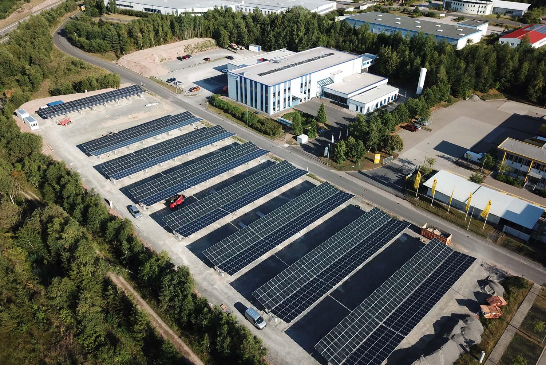 Das Firmengelände der Profectus GmbH aus der Luft
