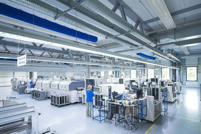 Eine Fabrikhalle der Profectus GmbH