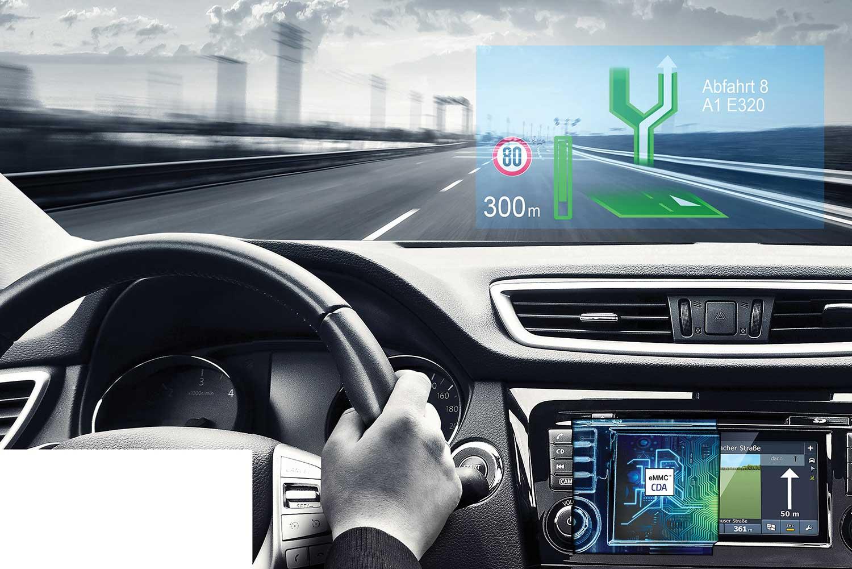 head-up-navigation mit Komponenten der CDA GmbH