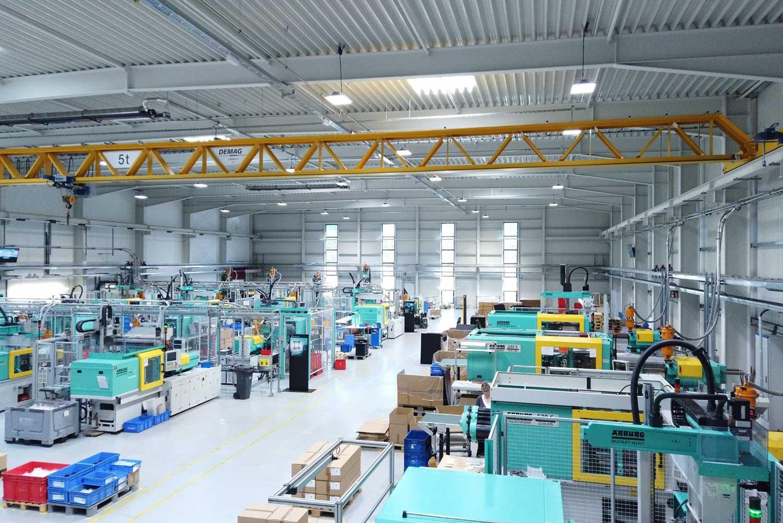 Produktionshalle der Hehnke GmbH & Co. KG