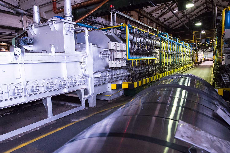 Produktionshalle der HFP Bandstahl GmbH