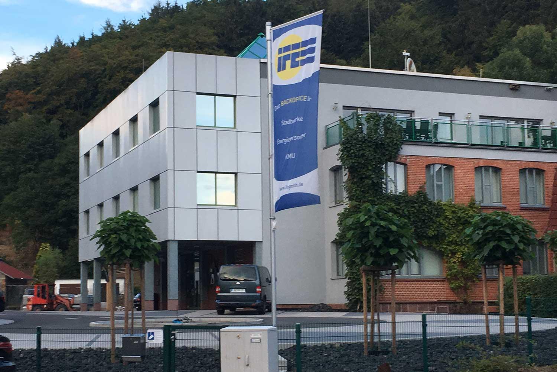 Firmengelände der IfE-Ingenieurbüro für Energiewirtschaft GmbH