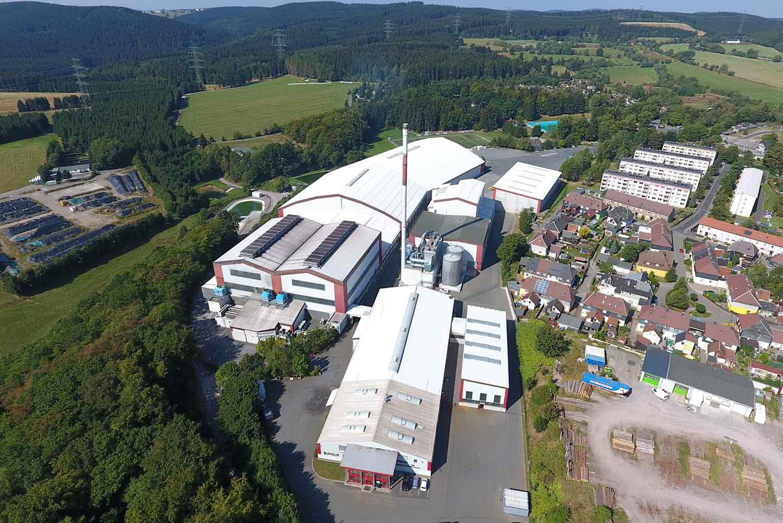 Standortaufnahme des Werkes in Großbreitenbach