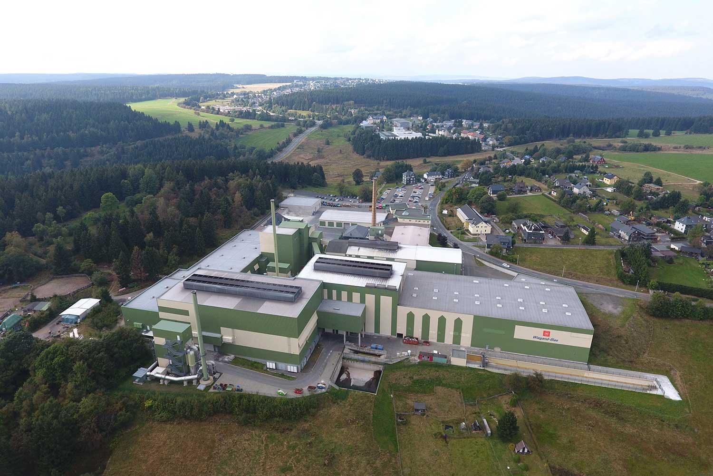 Standortaufnahme des Werkes in Lauscha, Ortsteil Ernstthal
