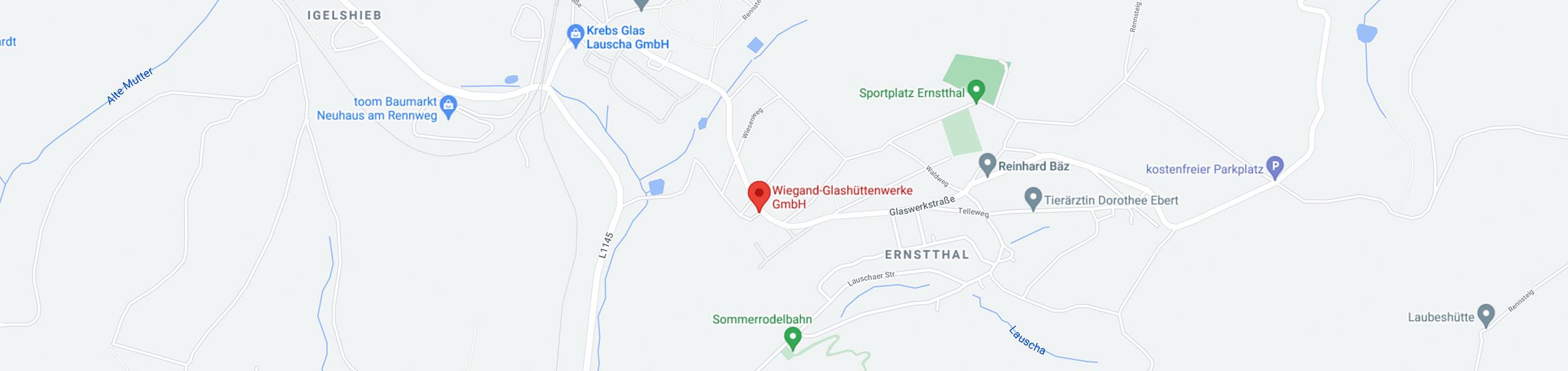 Standortkarte Wiegand-Glashüttenwerke GmbH